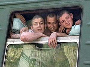 едем в армию на поезде